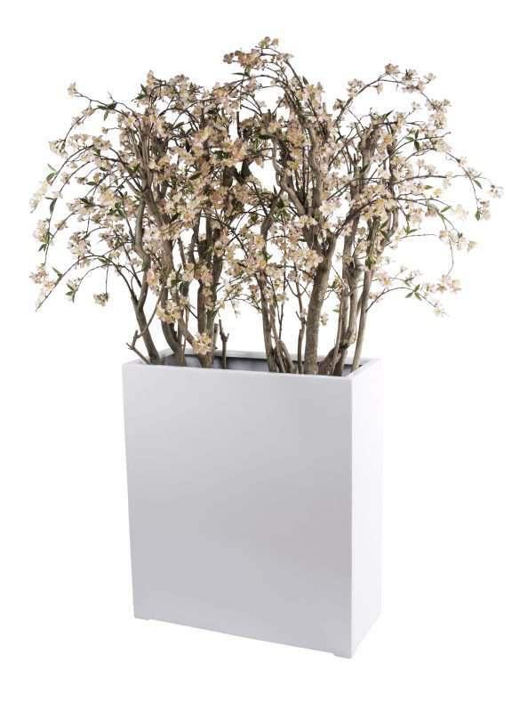 Alliante witte bloempot