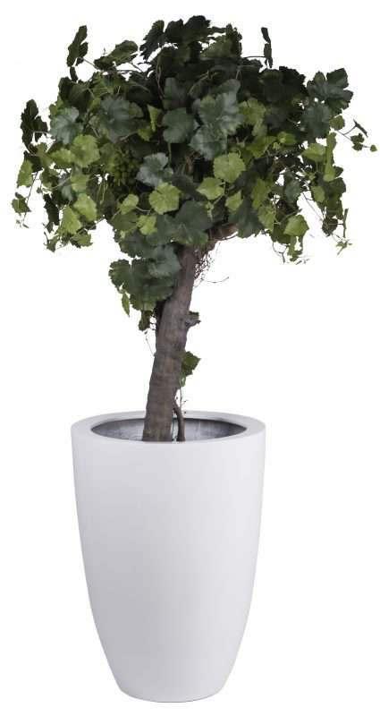 grote witte plantenbak