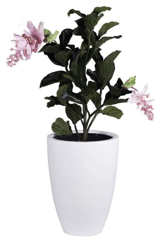 witte bloempot