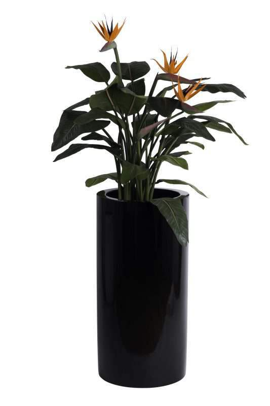 cuby-bloempot-zwart
