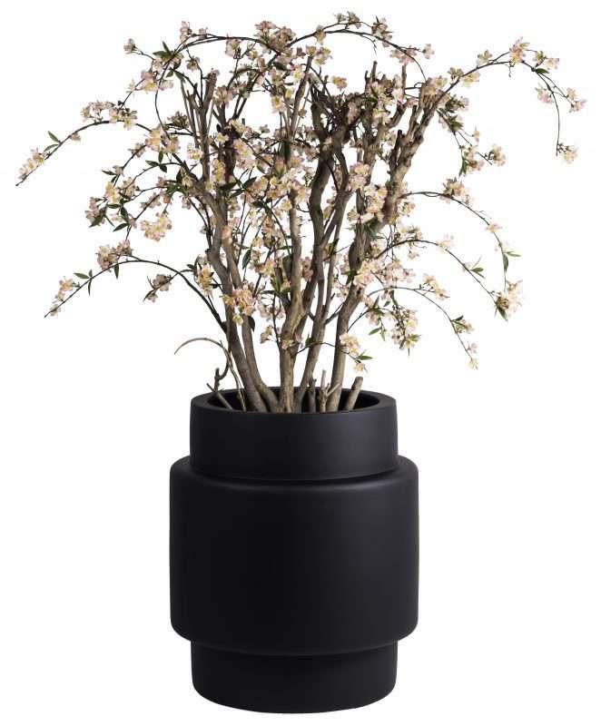 zwarte trendy bloempot