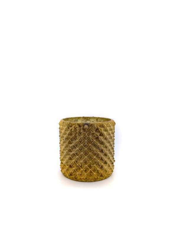 gouden waxinelichthouder met studs