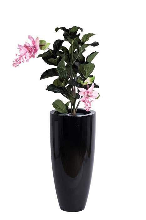 Hoogglans zwarte bloempot