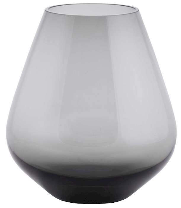 grijs glas waxinelicht
