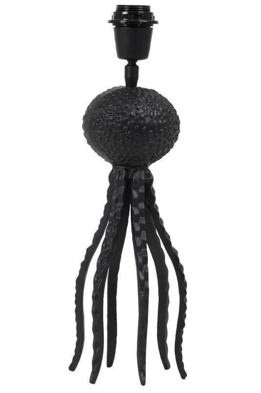 zwarte octopus lamp