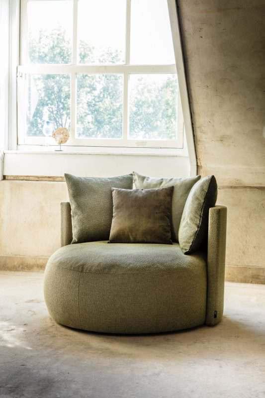 ronde loungestoel