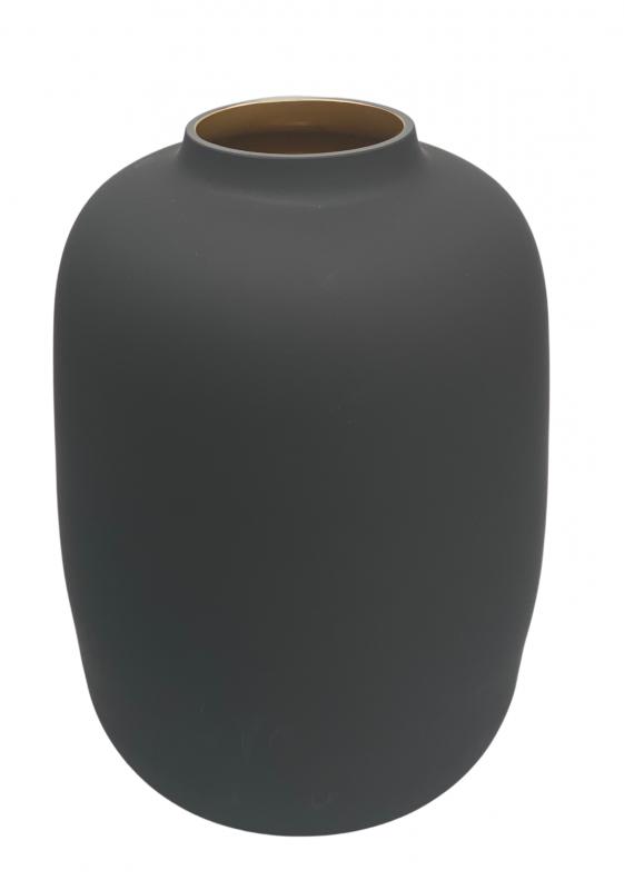zwarte vaas glas