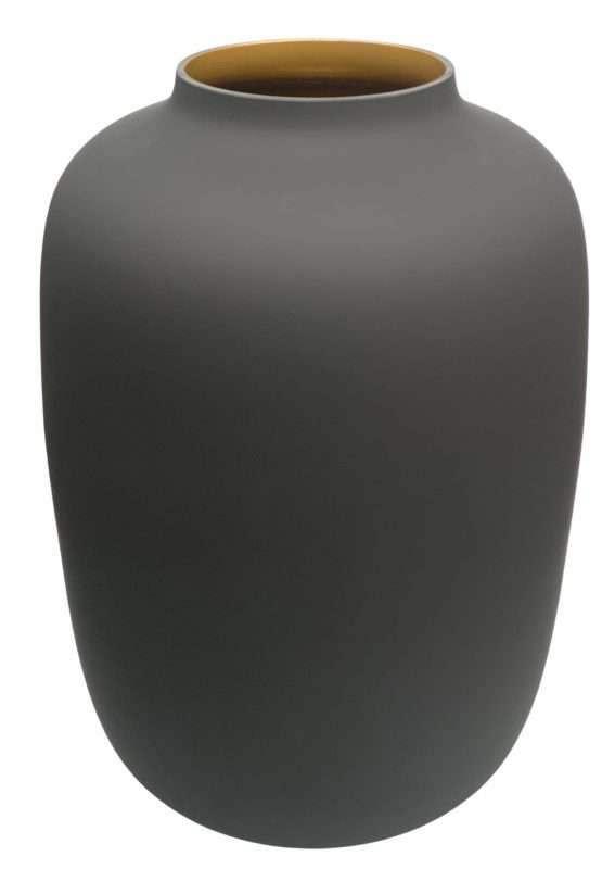 Zwarte glazen vaas