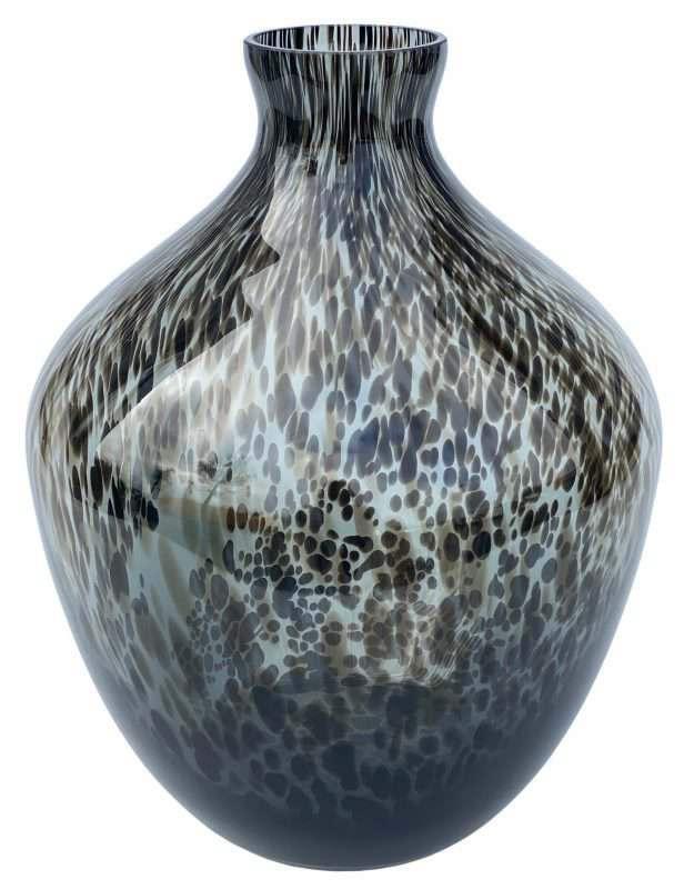 grijze glazen vaas panterprint