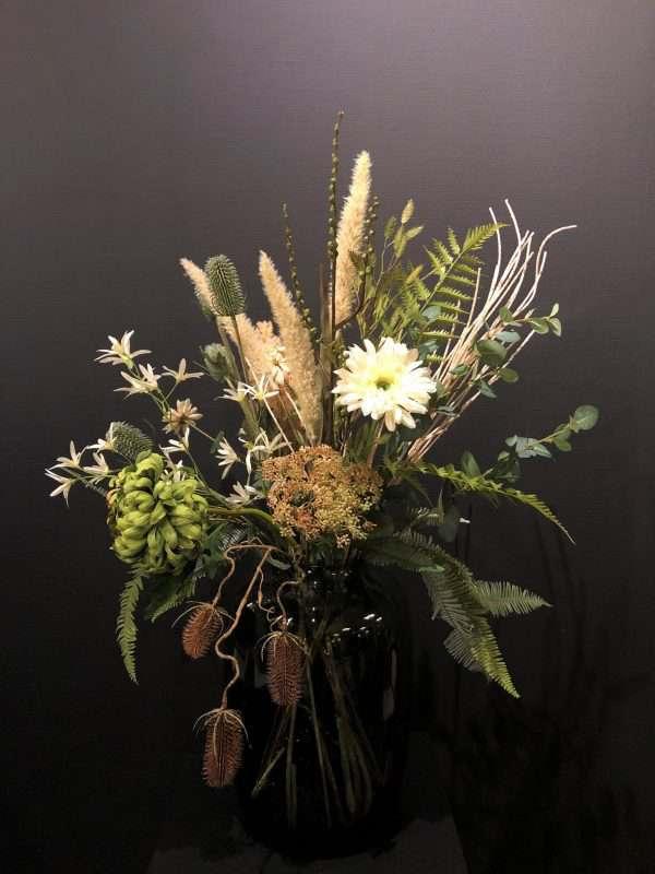 groen kunstbloemen boeket