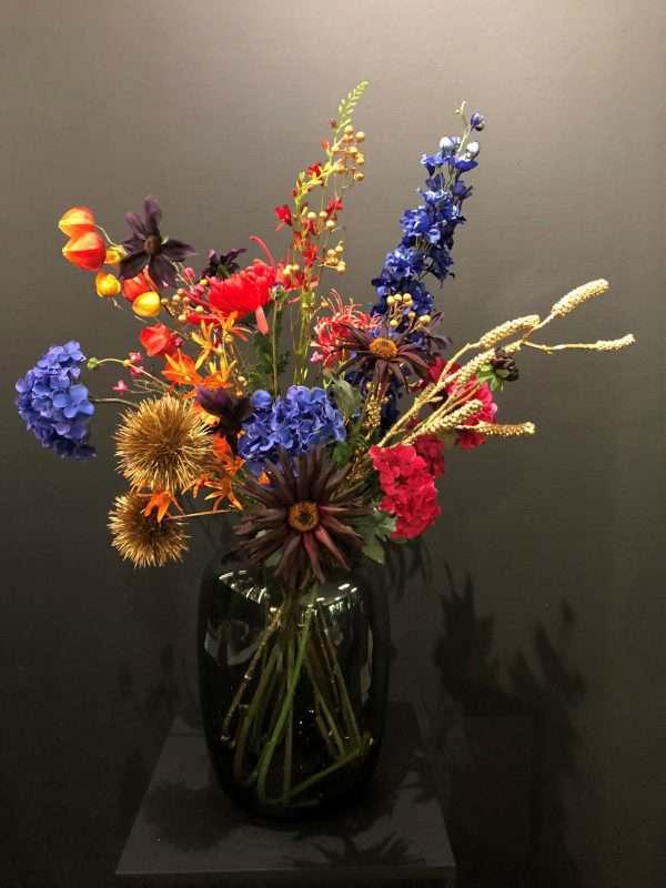 Zijden kunstbloemen boeket